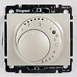 771519 + 775691 - Термостат для управления теплым полом до 16А, с датчиком температуры, Legrand Galea Life (Жемчуг)
