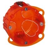 080101 - Монтажная коробка повышенной прочности, встраиваемая универсальная, 1-постовая, 40мм, d=67мм, Legrand Batibox