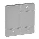754729 - Лицевая панель для радиоприемного выключателя,для приводов жалюзи/рольставней Legrand Valena Life (алюминий)