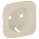 755206 - Лицевая панель для розетки 2К+З Легранд Валена Аллюр (слоновая кость)