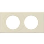 069432 - Рамка 2-постовая Legrand Celiane, прямоугольная, 171х83мм, кожа (макиато)