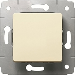 773711 - Кнопка 10A, Легранд Карива (слоновая кость)