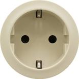 066227 - Лицевая панель для розетки немецкого стандарта с безвинтовыми зажимами (2К+З), Legrand Celiane (слоновая кость)