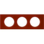 069473 - Рамка 3-постовая Legrand Celiane, прямоугольная, 243х84мм, стекло (смальта кармин)