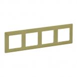 754084 - Рамка четырехпостовая Legrand Valena Life (лайм)