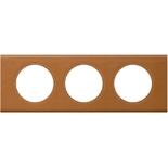 069423 - Рамка 3-постовая Legrand Celiane, прямоугольная, 242х83мм, кожа (карамель)