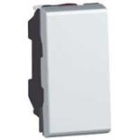 079230 - Выключатель кнопочный 1-модульный, Legrand Mosaic, 6А (алюминий)