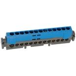004844 - Клеммник 1х6-25мм²+12х1.5-16мм², Легранд (синий)