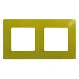 672542 - Рамка 2-х постовая Legrand Etika (зеленый папоротник)