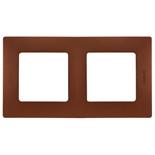 672572 - Рамка 2-х постовая Legrand Etika (какао)
