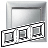 770333 - Рамка 3 поста Legrand Valena (Матовый алюминий)