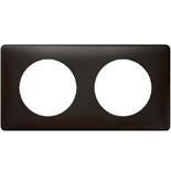 068982 - Рамка 2-постовая Legrand Celiane, прямоугольная, 161х82мм (карбон)