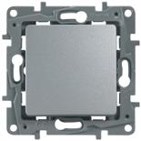 672405 - Переключатель Legrand Etika одноклавишный, автоматические клеммы (алюминий)