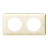 066622 - Рамка 2-постовая Legrand Celiane, пластик (слоновая кость глянец)