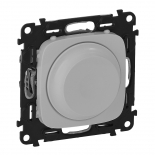 752060 + 752047 - Светорегулятор (диммер) поворотный, 300 Вт, Legrand Valena Allure (алюминий)