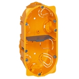 080042 - Монтажная коробка встраиваемая, 2-постовая (1х4/5), 40мм, d=67мм, для сухих перегородок, Legrand Batibox