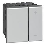 079204 - Светорегулятор без нейтрали, 2-модульный, 2-проводной, 400Вт, Legrand Mosaic (алюминий)