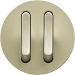 066299 - Лицевая панель для двойного выключателя/переключателя с тонкими клавишами, Легран Селиан (слоновая кость)