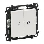 752005 + 067684 (2 шт.) + 755220 - Выключатель двухклавишный с подсветкой Legrand Valena Life (белый)