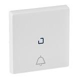 755050 - Лицевая панель для кнопочного выключателя, с символом «звонок», c линзой для подсветки Legrand Valena Life (белая)