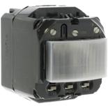 067091 - Механизм датчика движения без нейтрали, 400Вт, с кнопкой вкл/выкл, Legrand Celiane