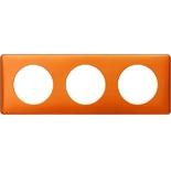 068763 - Рамка 3-постовая Legrand Celiane, прямоугольная, 232х82мм (оранж пунктум)