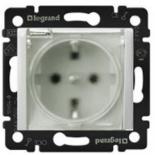 774220 - Розетка электрическая с прозрачной крышкой влагозащищенная    (белая) Legrand Valena