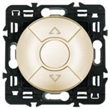 066290 + 067602 + 080251 - Переключатель управления приводами жалюзи, кнопочный 6А, Легранд Селиан (слоновая кость)