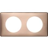 068992 - Рамка 2-постовая Legrand Celiane, прямоугольная, 161х82мм (медь)