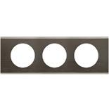 069033 - Рамка 3-постовая Legrand Celiane, прямоугольная, 242х83мм, металл (чёрный никель)