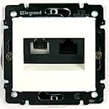 770080 - Розетка TF + RJ45 (Ethernet) Legrand Valena (белая)