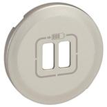 068556 - Лицевая панель для двойной зарядки USB, Легранд Селиан (титан)
