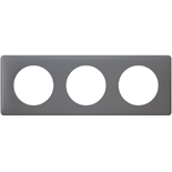 066733 - Рамка 3-постовая Legrand Celiane, прямоугольная, 232х82мм (фиолетовая перкаль)