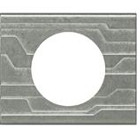 069041 - Рамка однопостовая Legrand Celiane, прямоугольная, 100х83мм, металл (техно)