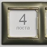770364 - Рамка 4 поста Legrand Valena (Титан/Золото)