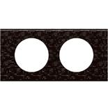 069452 - Рамка 2-постовая Legrand Celiane, прямоугольная, 171х83мм, кожа (блэк пиксел)