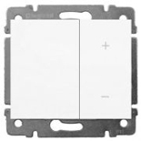 771086 + 775653 - Светорегулятор (диммер) клавишный, 600 Вт, Legrand Galea Life (белый)