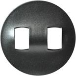 064905 - Лицевая панель для двойного рычажкового выключателя, Легранд Селян (графит)