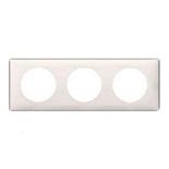 068693 - Рамка 3-постовая Легранд Селиан, 232×82мм, пластик (слоновая кость)