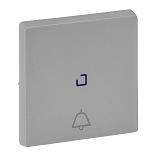 755052 - Лицевая панель для кнопочного выключателя, с символом «звонок», c линзой для подсветки Legrand Valena Life (алюминий)