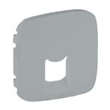 755417 - Лицевая панель для одиночных телефонных/информационных розеток Legrand Valena Allure (алюминий)