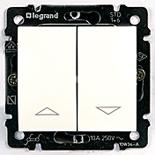 774404 - Переключатель с механической блокировкой для управления жалюзи Legrand Valena (белый)