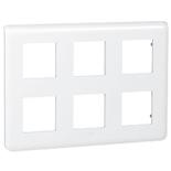 078832 - Рамка Legrand Mosaic, 6-постовая, 12-модульная (белая)