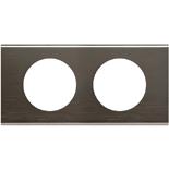 069032 - Рамка 2-постовая Legrand Celiane, прямоугольная, 171х83мм, металл (чёрный никель)