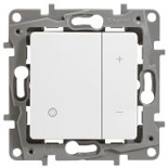 672218 - Светорегулятор (диммер) клавишный 400 Вт, Legrand Etika (белый)