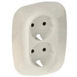 754956 - Лицевая панель для двойной силовой розетки 2х2К+З Legrand Valena Allure (слоновая кость)