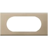 069115 - Рамка Legrand Celiane, 4/5М, прямоугольная, 171х82мм, металл (никель велюр)