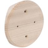 RK3-200 - Накладка на бревно Ø200мм, для распределительной коробки/светильника с диаметром основания до 105мм, круглая (ясень)