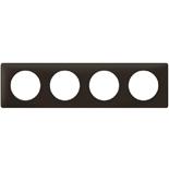 066744 - Рамка 4-постовая Legrand Celiane, прямоугольная, 303х82мм (черная перкаль)