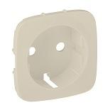 755256 - Лицевая панель для силовой розетки 2К+З с зажимами Legrand Valena Allure (слоновая кость)